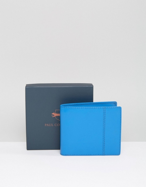 Paul Costelloe Leather Billfold Turquoise Wallet