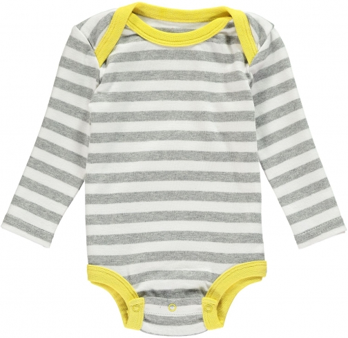 House Of Fraser Rockin' Baby Boys Grey And White Stripe Babygrow