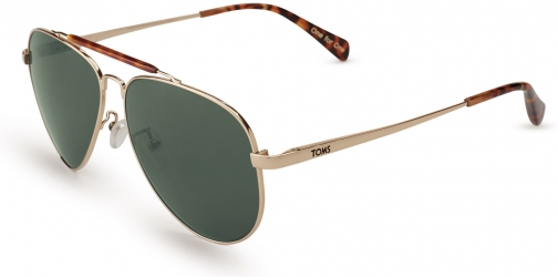 Toms Maverick 301 Yellow Gold Polarized Eyewear