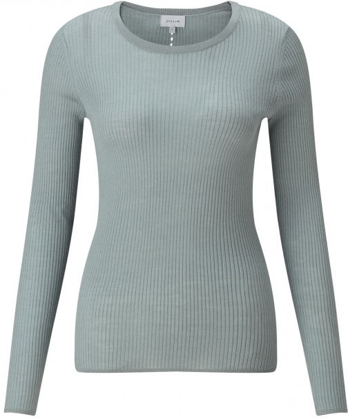 Jigsaw Rib With Back Pointelle Jumper
