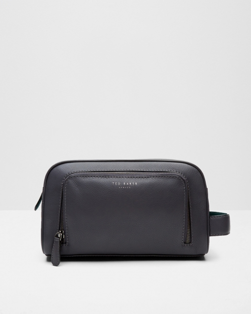 Ted Baker Leather Charcoal Wash Bag