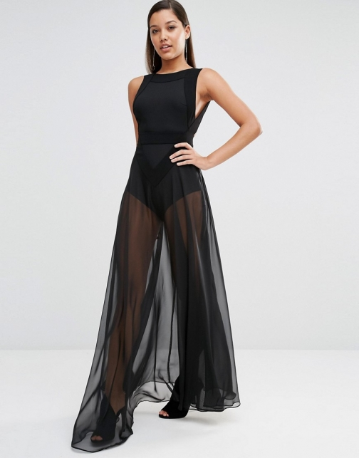 Aq/aq AQAQ Kiva Sheer Maxi Dress