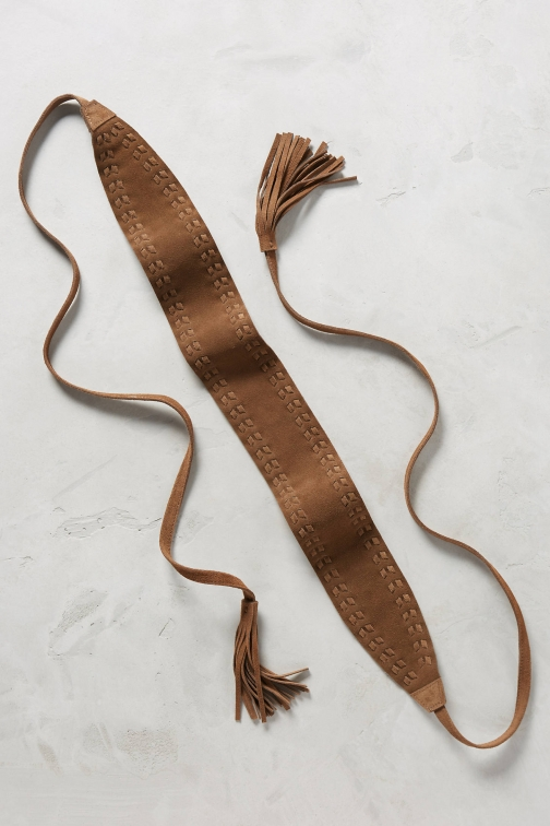 Anthropologie Ila Suede Wrap Belt