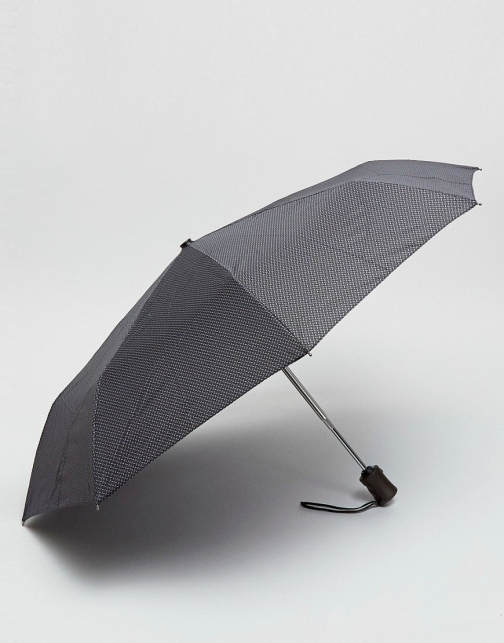 Fulton Black Print Umbrella