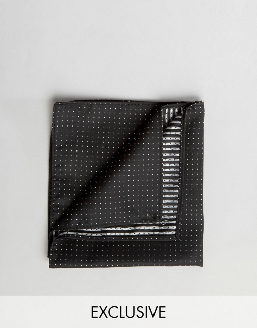 Reclaimed Vintage Polka Dot Pocket Square