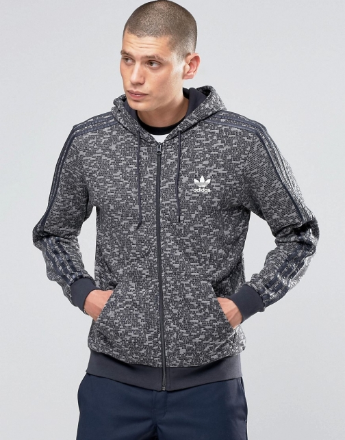 Adidas Originals Mix Logo Grey AY8357 Hoodie