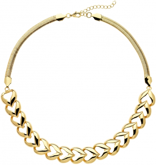 House Of Fraser Monet Gold Polished Heart Collar