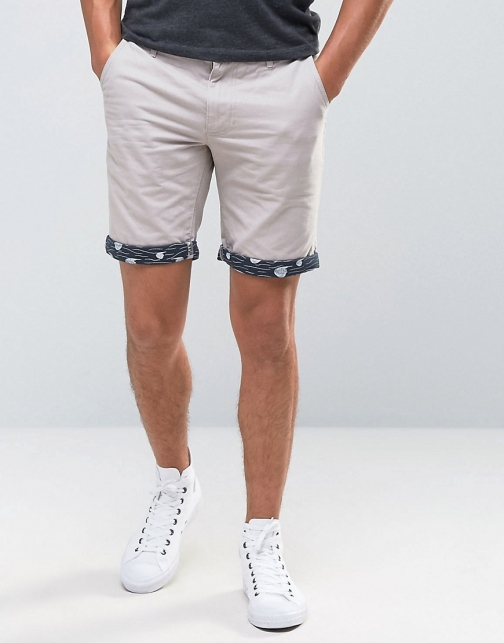 Bellfield Turn Up Printed Short