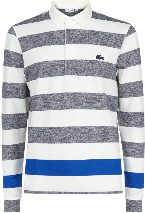 Lacoste Men's Lacoste Lacoste Striped Cotton Rugby Shirt