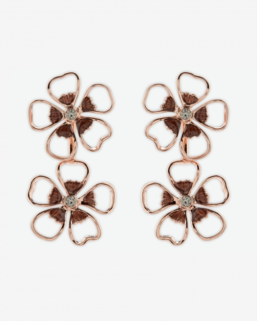 Ted Baker Flower Drop Jet Earring