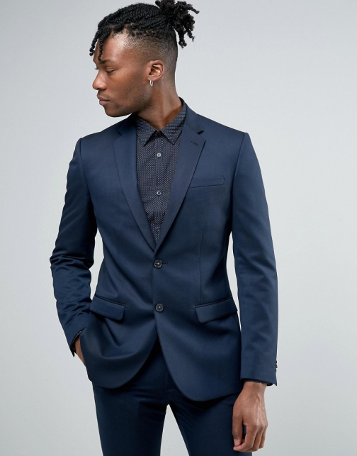 New Look Slim Navy Suit Jacket