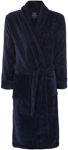 Howick Men's Howick Classic Navy Towelling Dressing Gown