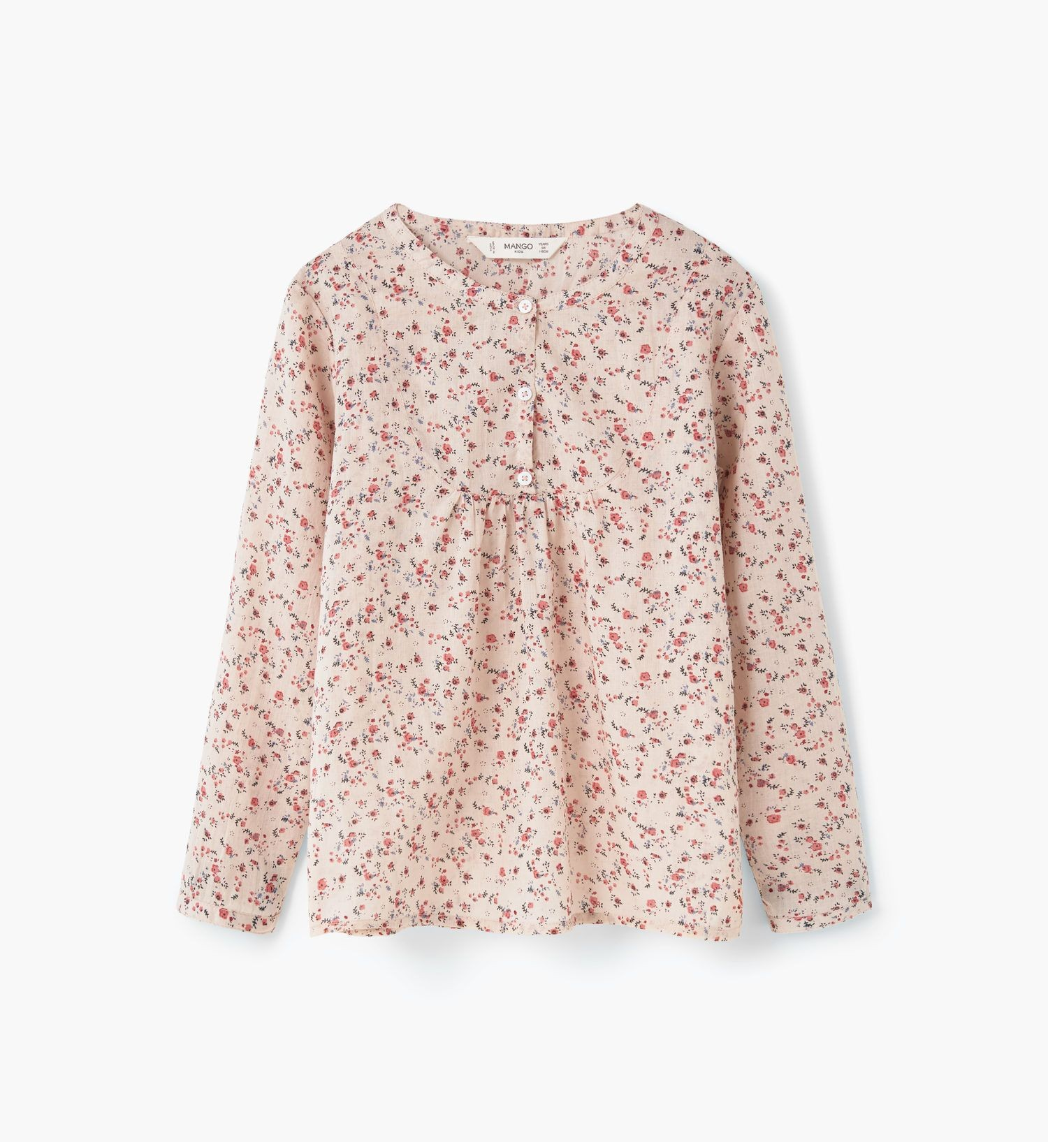Mango Girls Printed Cotton  Shirt