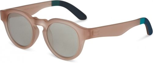 Toms Traveler By TOMS Bryton Matte Champagne With Ivory Mirror Lens Sunglasses