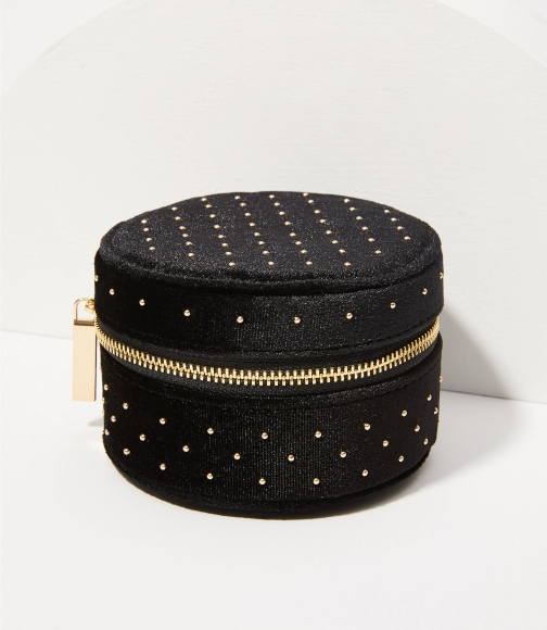 Loft Studded Velvet Jewelry Case