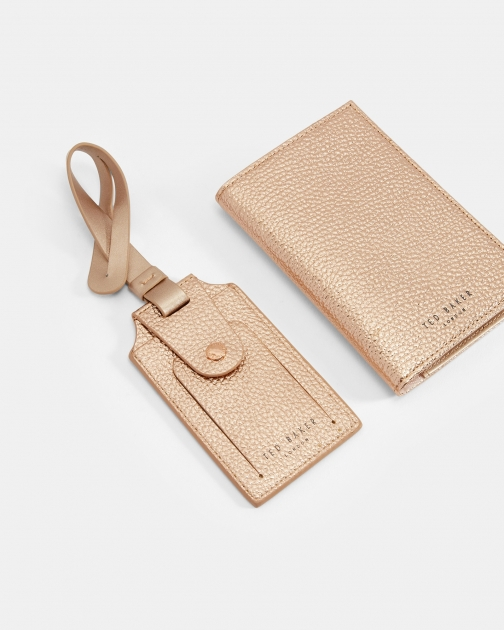 Ted Baker Leather Passport Holder And Tag Set Passport Cover