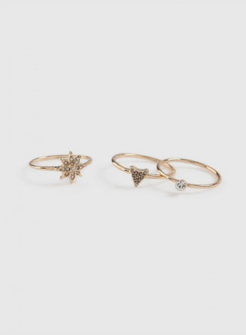 Dorothy Perkins 3 Pack Gold Stack Ring