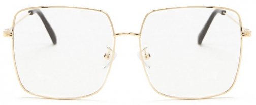 Forever21 Forever 21 Metal Square Readers Gold/clear Eyewear
