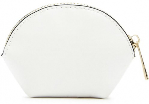 Forever21 Forever 21 Faux Leather Coin White Purse