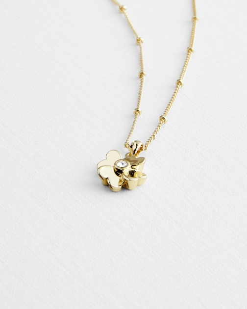 Ted Baker Heart Flower Pendant
