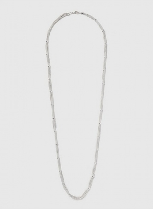 Dorothy Perkins Womens Chain And Bead Rope - Silver, Silver Necklace