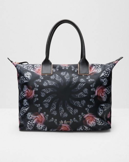 Ted Baker Dynamic Butterfly Print Tote Black Bag