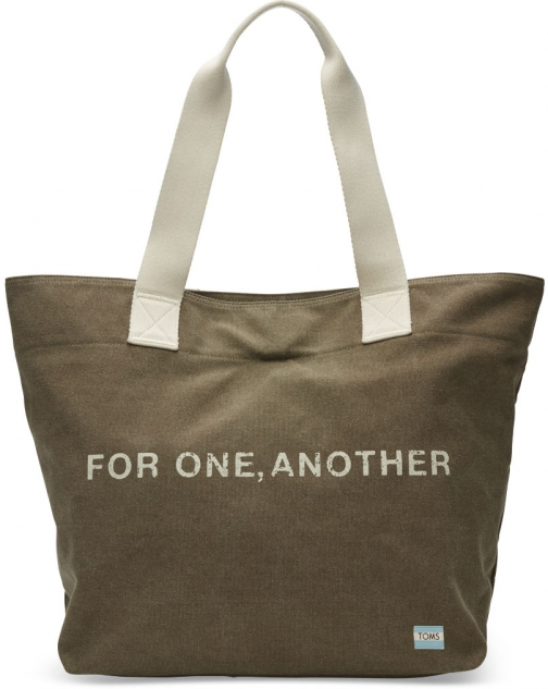 Toms Green For One Another Transport Tote Bag