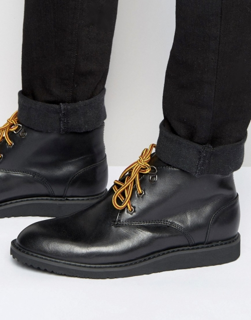 Bellfield Desert Black Leather Boot