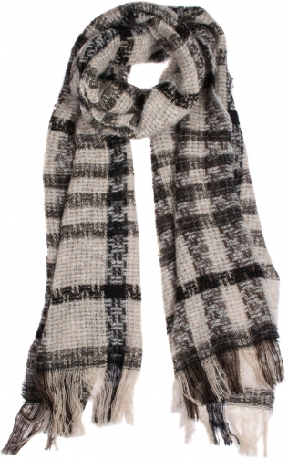Dents Women`s Checked Open Weave Scarf