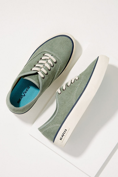 Anthropologie SeaVees Corduroy - Blue, Size Trainer