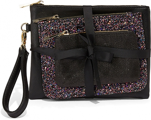 Oasis 3 PACK GLITTER POUCH Pouch