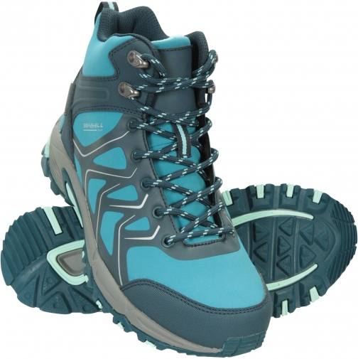 Mountain Warehouse Shadow Waterproof Womens Softshell - Teal Boot