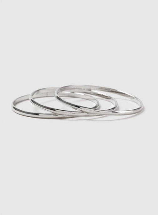 Dorothy Perkins Plain Silver Bangle Pack Bracelet