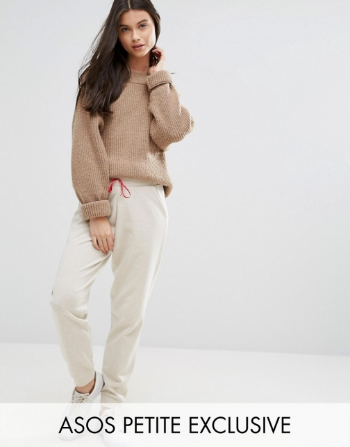 Asos Petite PETITE Lounge Joggers With Satin Bow Athletic Pant