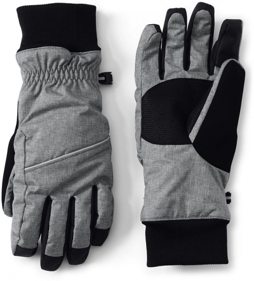 Lands' End Women's Squall - Lands' End - Gray - S Glove