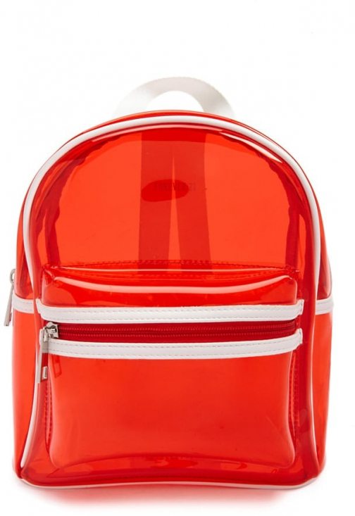 Forever21 Forever 21 Structured Vinyl , Red/multi Backpack