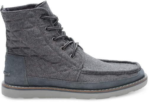 Toms Castlerock Grey Quilted Wool And Suede Men's Searcher Boot