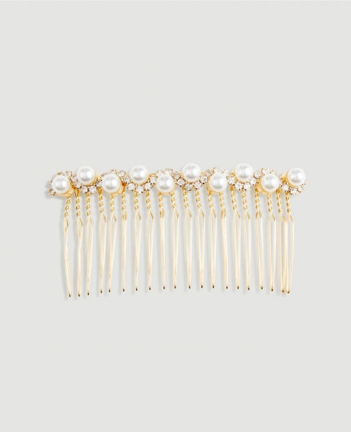 Ann Taylor Factory Pearlized Hair Comb Pin