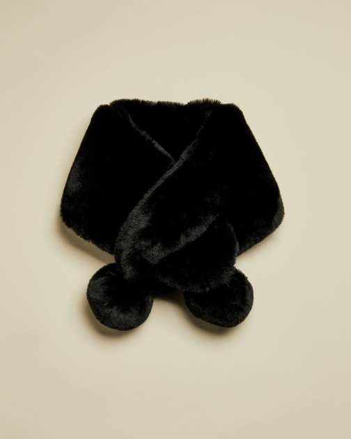 Ted Baker Faux Fur Pom Snood Scarf