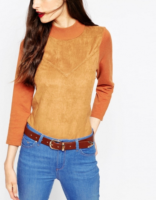 Asos Clean Tipped Detail Waist And Hip Belt