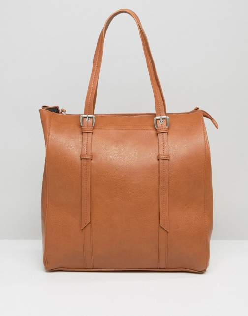 Pieces Structured Tote Bag