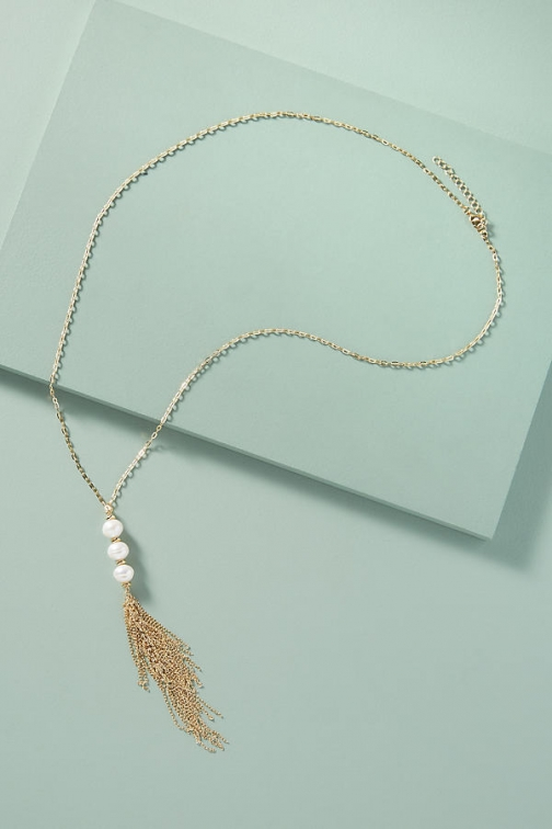 Anthropologie Tasselled-Pearl Necklace Necklace