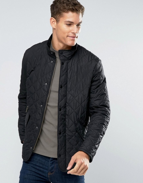 Barbour Chelsea Quilted Black Jacket