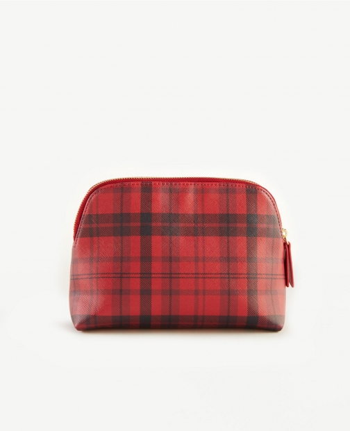 Ann Taylor Plaid Cosmetic Case