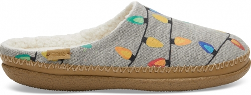 Toms Light Grey Glow The Dark Tree Lights Women's Ivy - Size UK7 / US9 Slipper