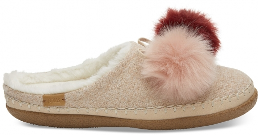Toms Rose Cloud Pom Pom Women's Ivy - Size UK7 / US9 Slipper