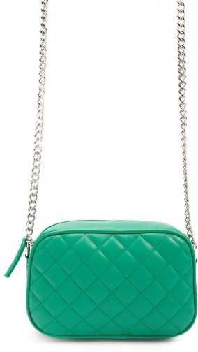 Forever21 Forever 21 Quilted Green Crossbody Bag