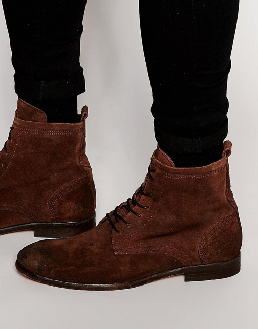 Asos Hudson Swathmore Suede Lace Up Boot