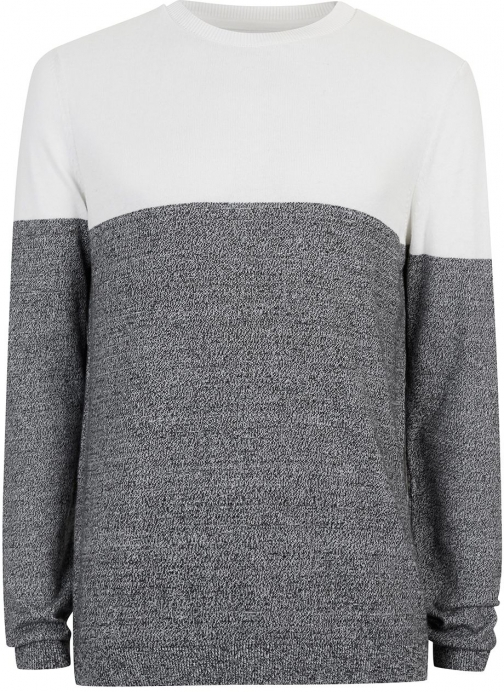Topman Men's Topman Colour Block Crew Neck Jumper