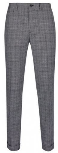 Dorothy Perkins Womens **Burton Grey Bold Check Tapered Fit Trousers- Grey, Grey Trouser
